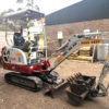 Excavator 1.6 ton - on site in Red Hill, VIC