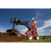 Dingo mini loader with post hole digger