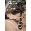 Excavator with auger