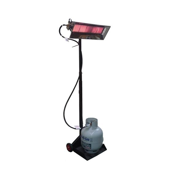 Gas radiant heater