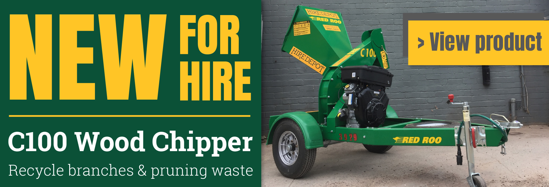 Wood chipper now available for hire