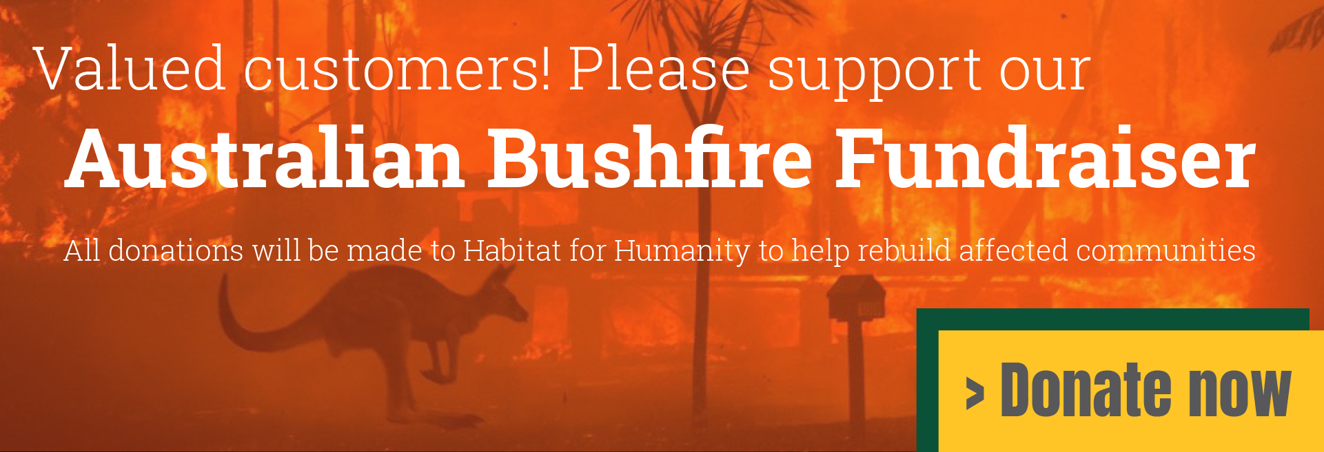 Please support our Australian Bushfire Fundraiser