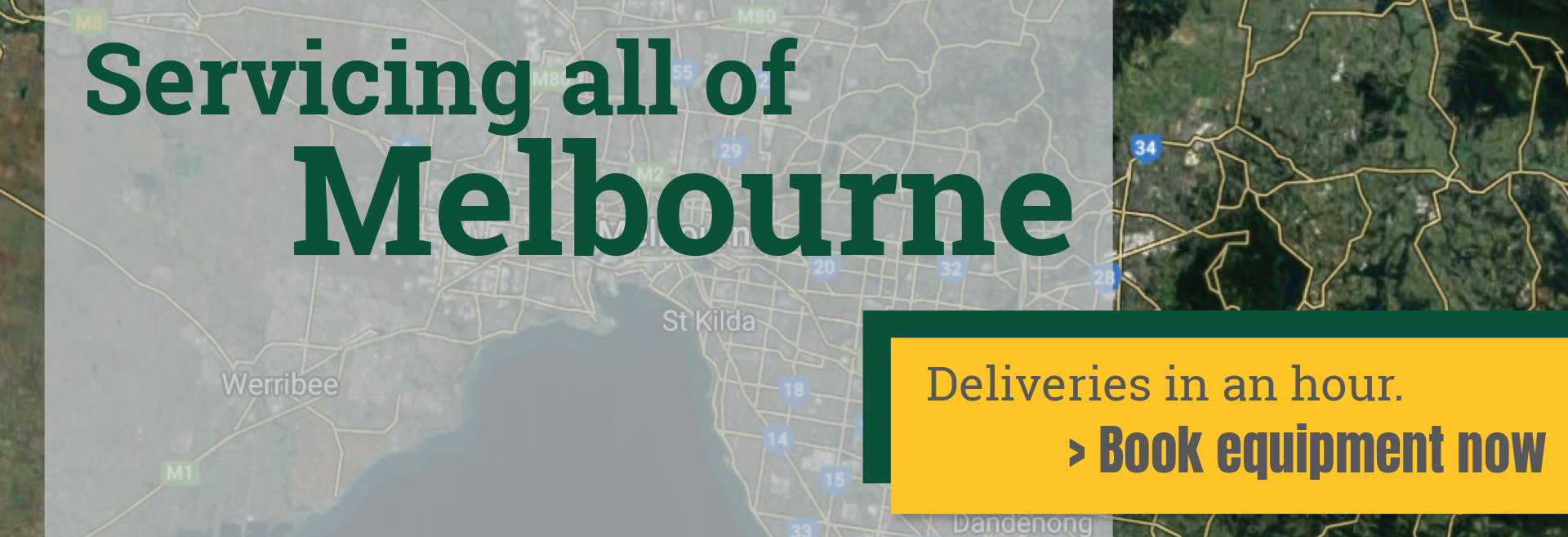 Servicing all of Melbourne