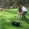 Power broom - turf